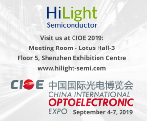 Hilight Semiconductor exhibiting at CIEO 2019